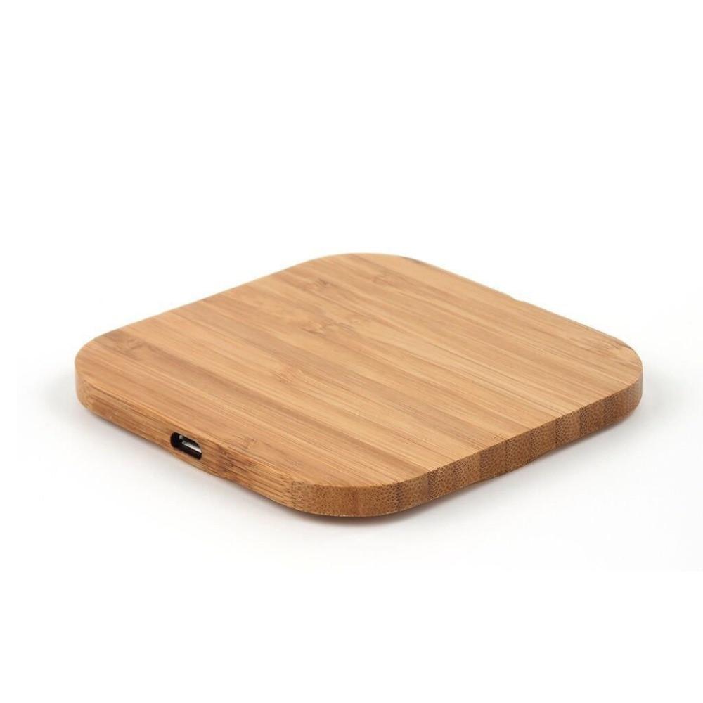 Портативное беспроводное зарядное устройство Qi для зарядки, тонкий деревянный коврик для iPhone X XS XR 8 Plus, быстрая Беспроводная зарядка для Samsung S10 S9 S8 S7 S6