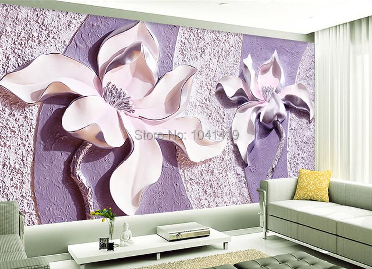 Niestandardowe Zdjęcia Tapety Stereoskopowe 3D Kwiaty Salon Sofa Tło Tapeta Nowoczesna Home Decor Pokoju Krajobraz Malowidła Ścienne 3