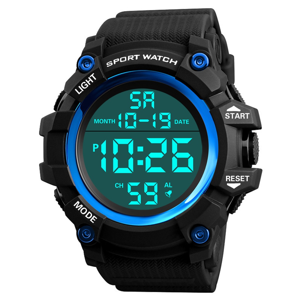 Reloj deportivo de lujo para hombre, reloj de pulsera analógico Digital militar de silicona resistente al agua con LED 40X para hombre