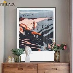 Impressões de Lona NHDARC Cartaz e Pintura Arte Moderna Moda Nórdica Cenário Da Montanha do Retrato Da Parede Home Decor ARC789