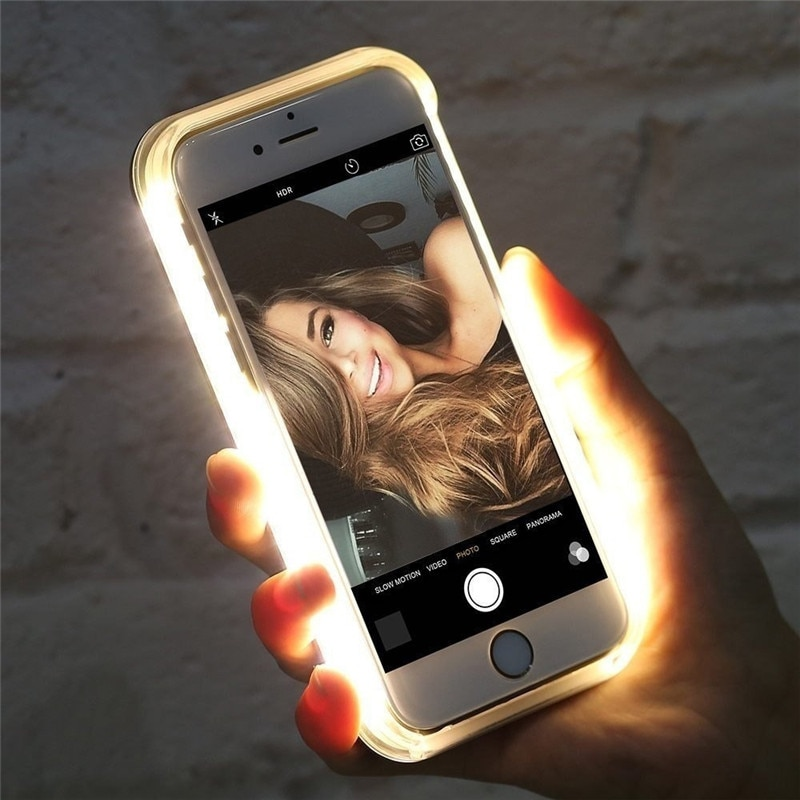 LED Flash Cases For iPhone 12 X XS MAX XR 8 7 Selfie Light 11 Pro 6 6s Plus 5 5s for 12pro max