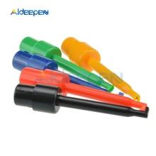 10 pièces Rond Simple Crochet Dessai Clip Sonde de Test pour les Tests Électroniques 5 Couleurs Pour Multimètre Réparation Outil De Mesure 56mm