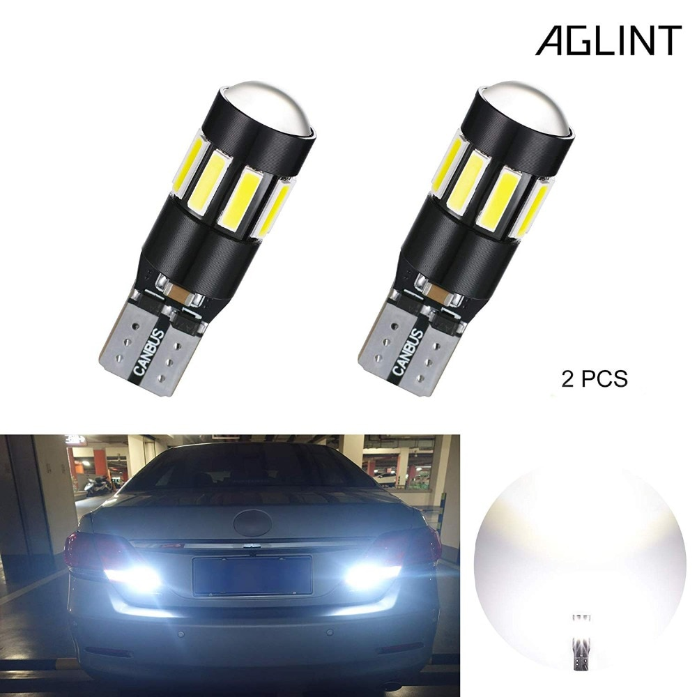 AGLINT 2 шт. T10 194 168 W5W 501 Светодиодный лампочки CANBUS НЕТ ОШИБОК для Mercedes Benz W211 тюнинг W221 W220 просвет парковка светильник белый 12V 24V