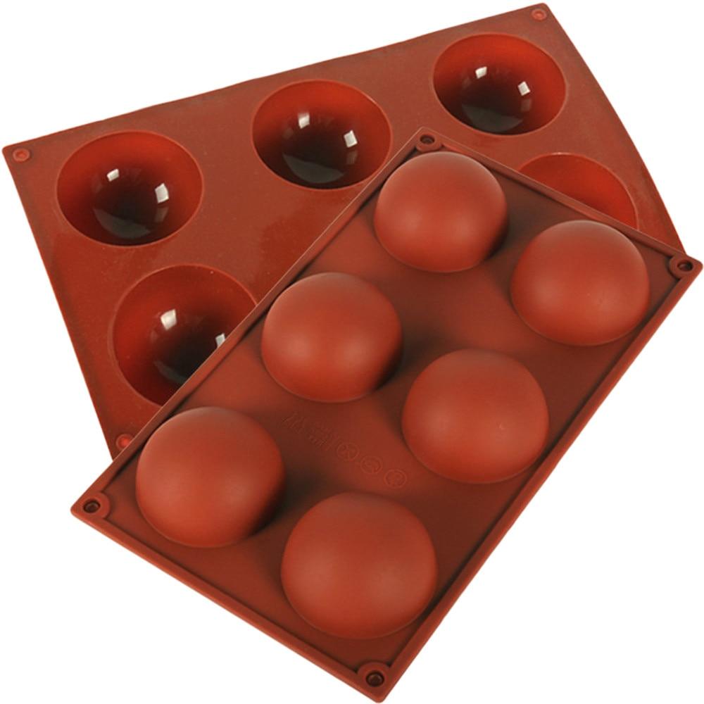 86 agujeros Media bola esfera silicona pastel molde 3d hecho a mano Cupcake jalea galleta Mini Muffin jabón molde para hornear Diy herramientas #15