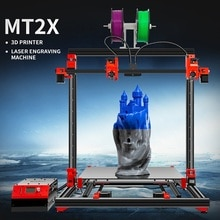 MULTOO, impresora 3D MT2X de gran tamaño, impresión de gran calidad, tornillo de bola de precisión, precisión, impresora 3D Dual única, 500x500x500