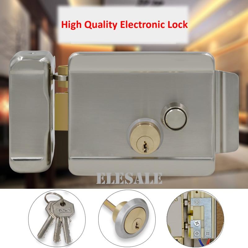 قفل باب كهربائي مغناطيسي إلكتروني لنظام التحكم في الوصول 12 فولت تيار مستمر ، نظام اتصال داخلي بالفيديو ، هاتف ، علامة تجارية جديدة