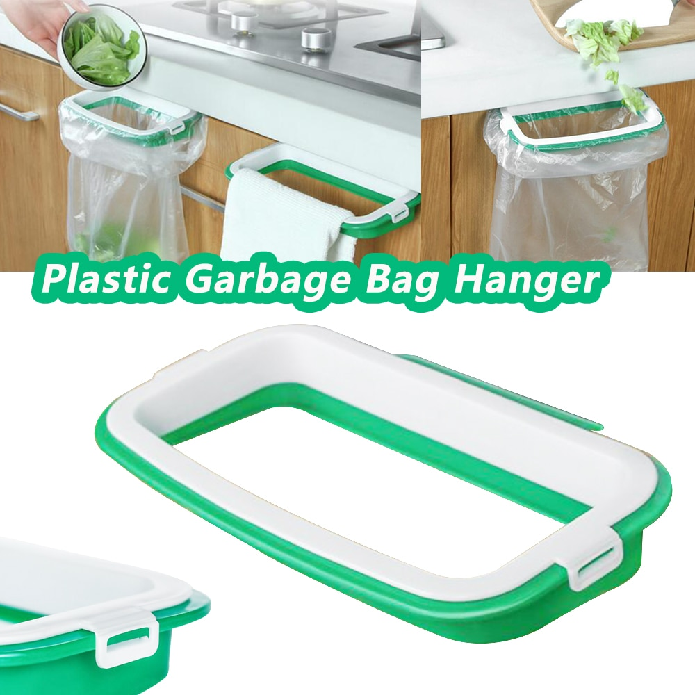 Colgador de bolsa de basura superfuerte, soporte para bolsa de basura, soporte para colgar basura, soporte de bolsa de basura, soporte de plástico 3