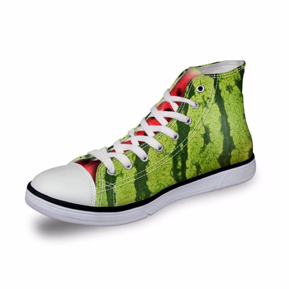 Noisydesigns, zapatillas de lona de alta calidad para mujer, zapatos planos vulcanizados vintage, zapatos de señora Naranja con estampado 3D para niñas, calzado para exteriores