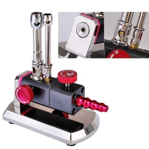 1 unidad Micro Bunsen quemador doble tubo giratorio Gas Luz de propano Dental equipo de laboratorio