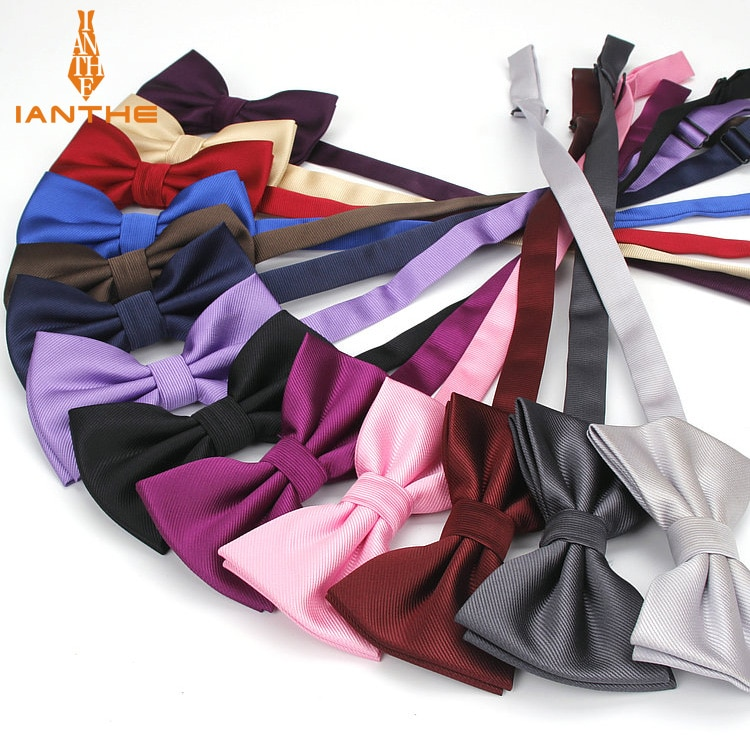 Gravata borboleta moda Das Mulheres Dos Homens da Festa de Casamento gravata-borboleta Cor Sólida Gravata de Poliéster Gravata Borboleta Masculino Vestido Shirt do presente Borboleta