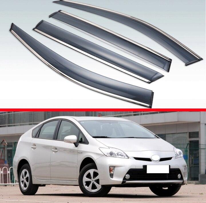 Para Toyota Prius 2012-2015 ABS ventana de plástico Deflector de viento Visor lluvia/protector de sol para ventilación