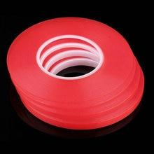 Film adhésif acrylique robuste 2mm 50M, ruban adhésif rouge transparent Double face pour téléphone portable, écran daffichage LCD offre spéciale