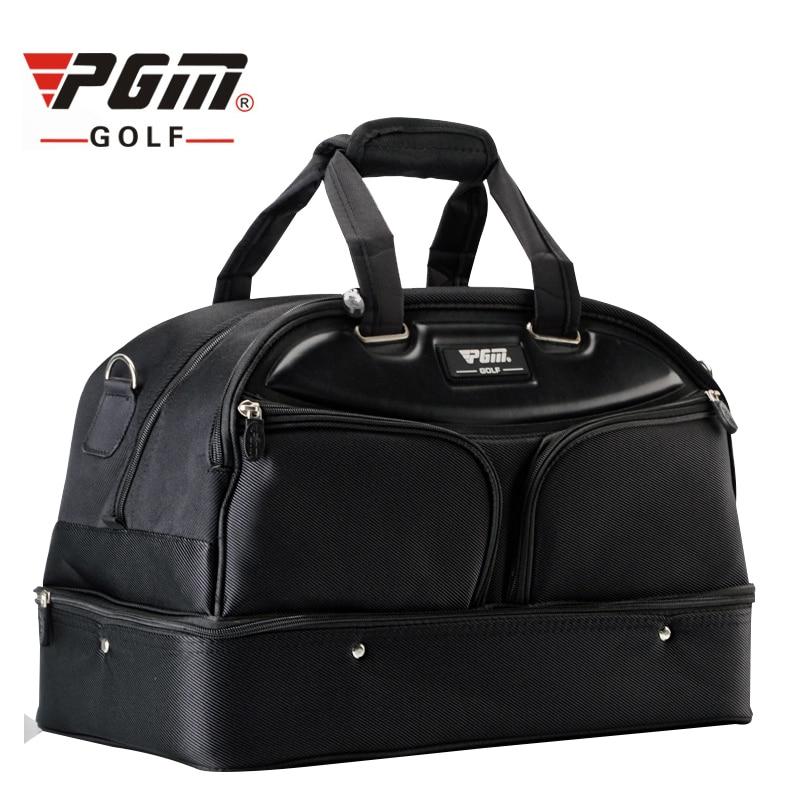 Pgm saco de roupas de golfe dos homens de dupla camada sacos de viagem grande capacidade de alta qualidade sapatos bola bolsas de roupas de náilon a7055