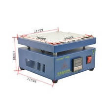 UYUE 110/220 V 800 W 946C 200x200mm plaque chauffante électronique préchauffer la Station de préchauffage pour BGA PCB SMD chauffage lampe à LED dessoudage