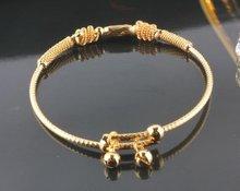 Brazalete de joyería de moda, 18 k oro amarillo fiiled Bebé Cuelgan joyas pulsera, 18 k pulsera brazalete de oro, encanto del brazalete de oro