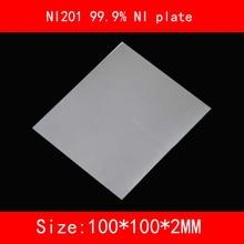 NI200 99.5% NI plaque NI201 99.9% NI plaque 100*100*1mm 2mm 3mm dépaisseur galvanoplastie/haute pureté nickel anode N4 N6