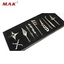 10 pièces Mini Naruto Kunai couteau modèle jouets 10 pcs métal Cosplay épée armes modèle cadeaux Collections Ninja couteau