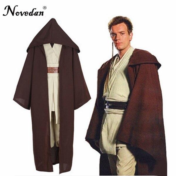 Star Wars Darth Vader Jedi Knight Anakin Cosplay Robes Cloak Halloween Costume For Adult Men Full Set