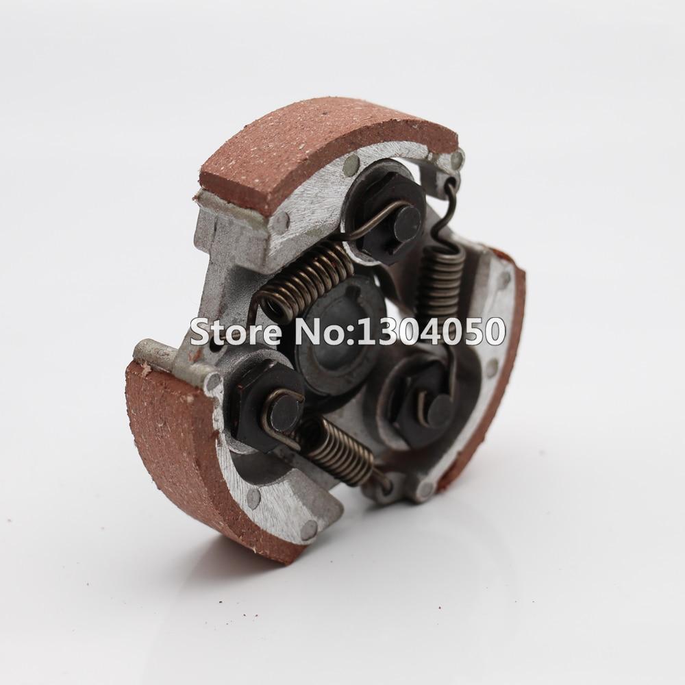 3 zapato embrague + SPRINGS w ranura para 33cc 43cc 47cc 49cc 50cc 2 tiempos Mini moto bicicleta Mini Quad Buggy ATV Go Karts Mini moto