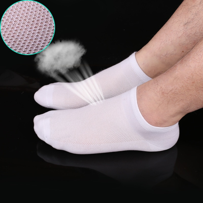 Носки мужские горячая Распродажа однотонные, тонкие дышащие дешевые, Короткие невидимки, летние
