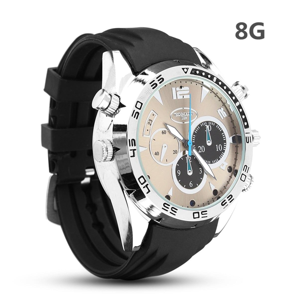 Reloj Digital infrarrojo resistente al agua 8G Full 1080P HD Cámara reloj para tomar fotos grabación de Audio Fuction hombres mujeres reloj