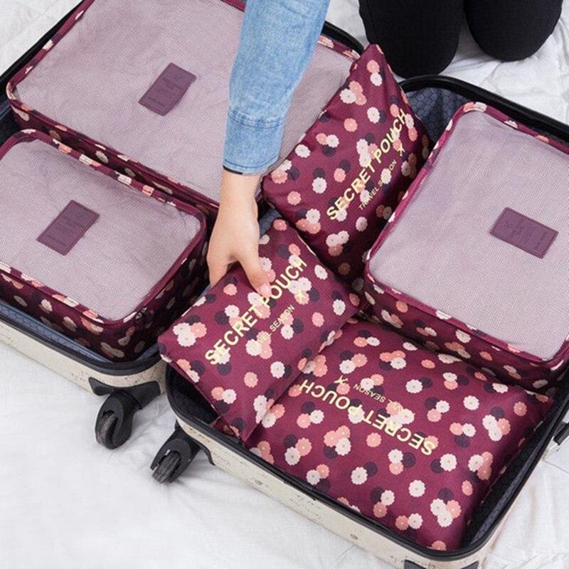 6 шт./компл. багажные дорожные сумки-органайзеры ruпутин, водонепроницаемые проектные Упаковочные сумки, дорожные сумки, аксессуары для одеж...