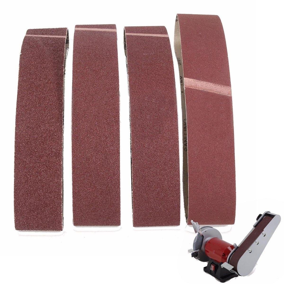 Dwz 20 pces 50x686mm lixamento correias misturadas grau 40 60 80 120 grão óxido lixadeira grosseira