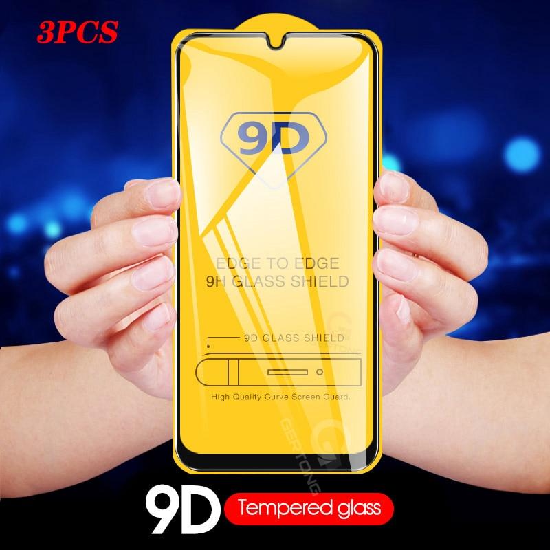 3Pcs de cristal para Samsung Galaxy A50 A70 Protector de pantalla de cristal templado para Samsung M10 M20 M30 A20 A20e A10 A30 A40 A60 A80 A90