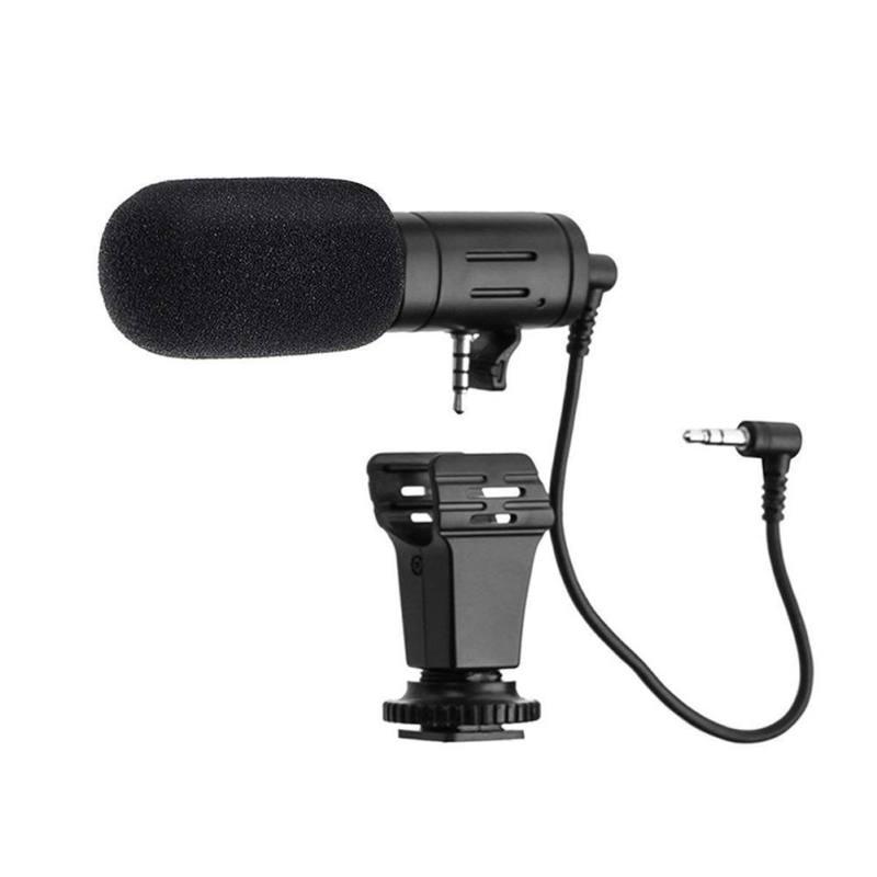 MIC-06 Mini Mikrofon Für Samsung Xiaomi Handys 3,5mm Kondensator Mic Für DSLR Smart Video Kamera Outdoor Interview Mikrofon