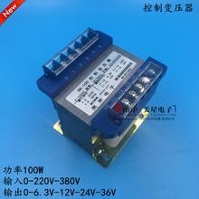 Transformador de entrada de transformador de 6,3 V-12 V-24 V-36 V 0-220V-380VAC transformador de aislamiento 100VA transformador de Control de Cobre seguro anti-interferencia