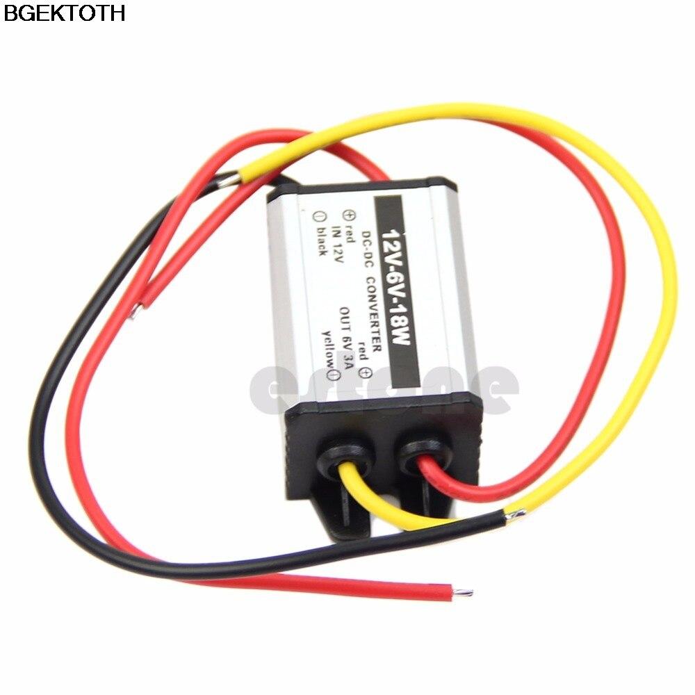 Водонепроницаемый преобразователь постоянного тока в постоянный ток, модуль питания от 12 В до 6 в 18 Вт