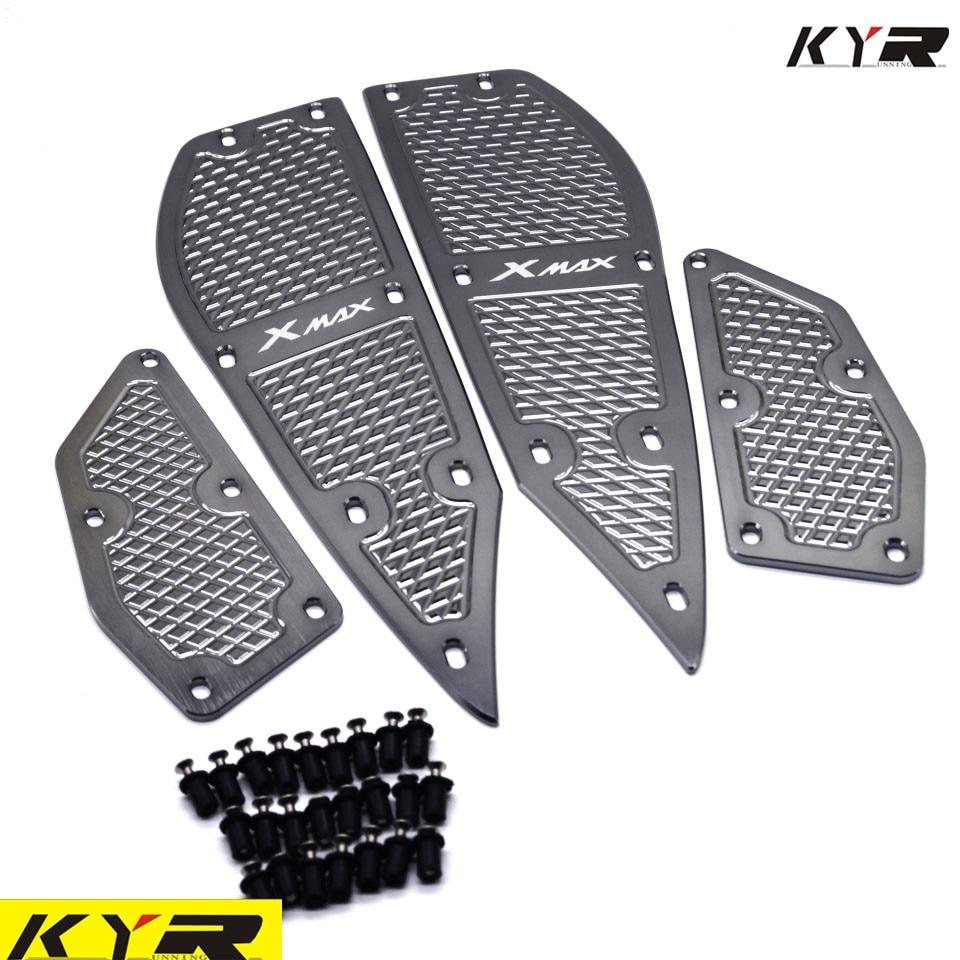 X MAX motocicleta modificado piezas esteras CNC reposapiés Placa de pedal de aleación de aluminio para Yamaha XMAX X-MAX 250 300 2017-2018
