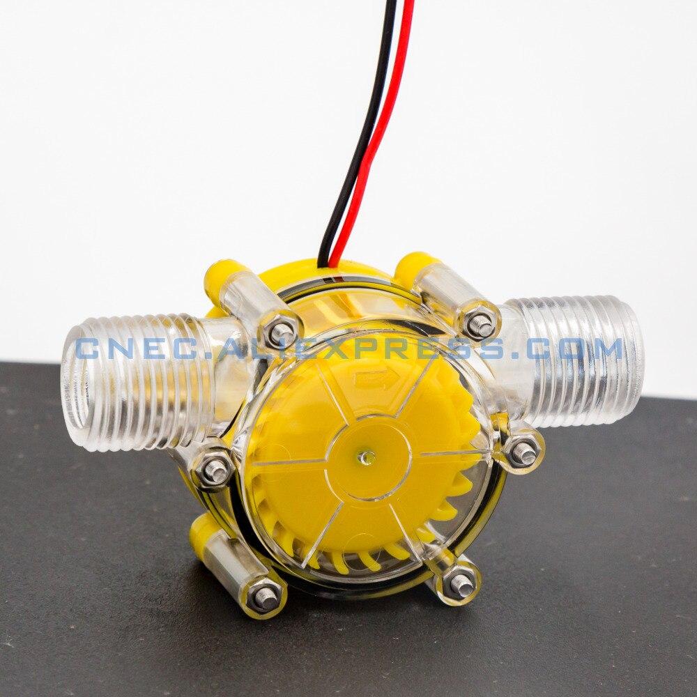 Generador de flujo de agua hidroeléctrico 5 V/10 W DC generador de turbina hidroeléctrico microgenerador hidráulico de flujo de agua de grifo hidráulico DIY