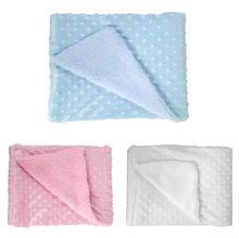 Soft Newborn Baby Blankets Warm Fleece Baby Stroller Cover Infant Bedding Quilt Sleep Swaddling Wrap Kid Bath Towel Swaddle Wrap