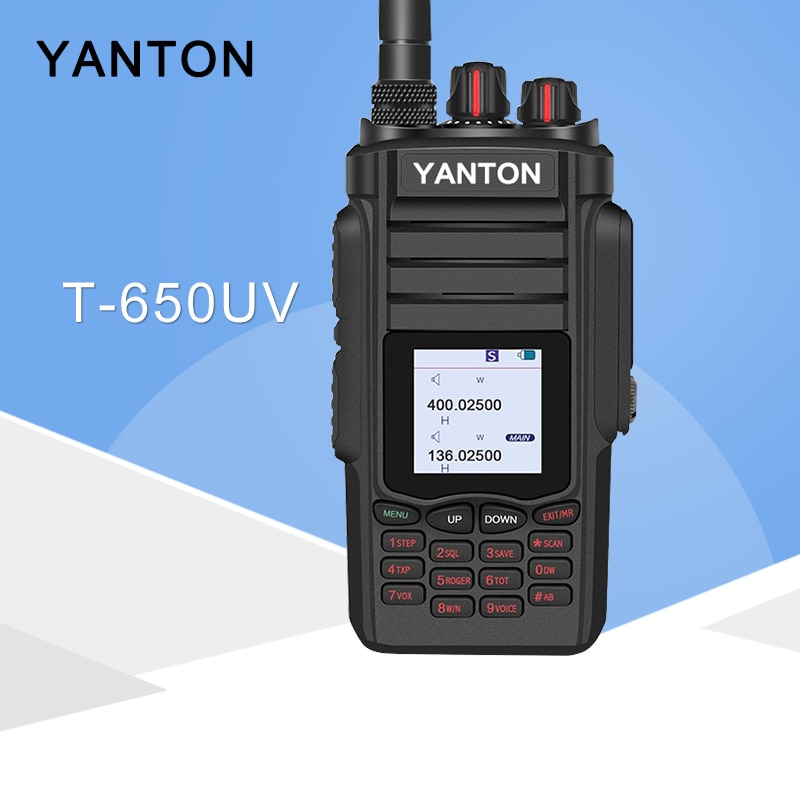 Se aplica a YANTON T-650UV Tri Dual Band VHF UHF 10W, Radio bidireccional portátil, Walkie Talkie Hnadheld, transmisor FM para caza