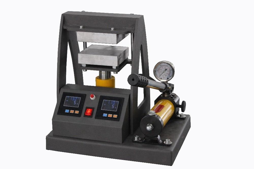 5x5 pulgadas, placas de calefacción dobles, prensa de calor de resina hidráulica