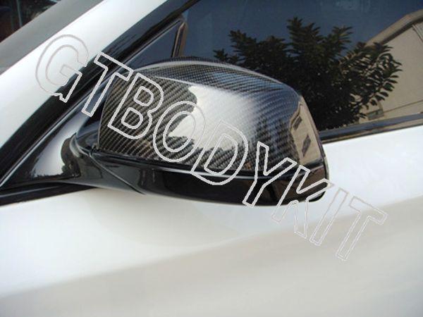 FOR CARBON FIBER 2010-2012 5-SERIES GT DOOR MIRROR COVERS TRIMS