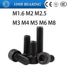5/10/20/50 Pcs DIN912 Allen Socket Head Schroef M1.6 M2 M2.5 M3 M4 M5 M6 m8 Hexagon Inbusbouten Hex Socket Schroef