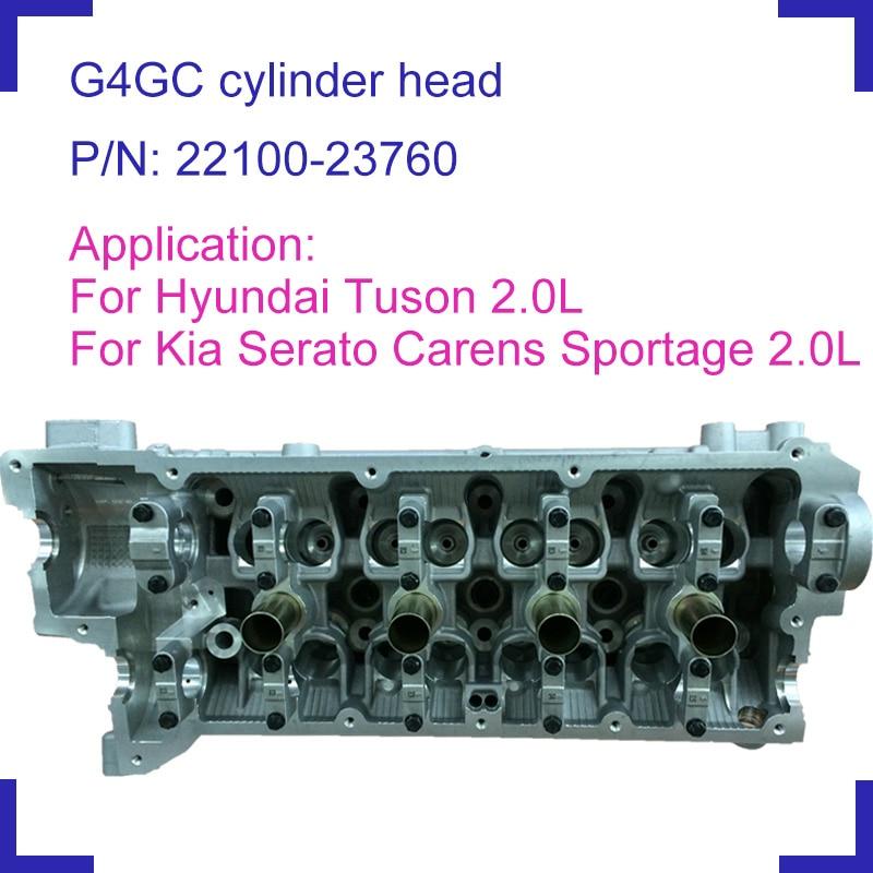 Piezas de motor G4GC, culata de cilindro desnudo 22100-23760 22100 23760 para Hyundai Tuson Kia Cerato Carens II gasolina 2.0L 1975cc