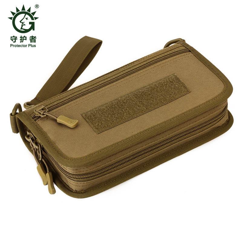 Tactical Wallet Men's Handbag Passport Travel Bag Camouflage Wallet 6-inch Mobile Handbag Wallets Men Mobile Phone Bag