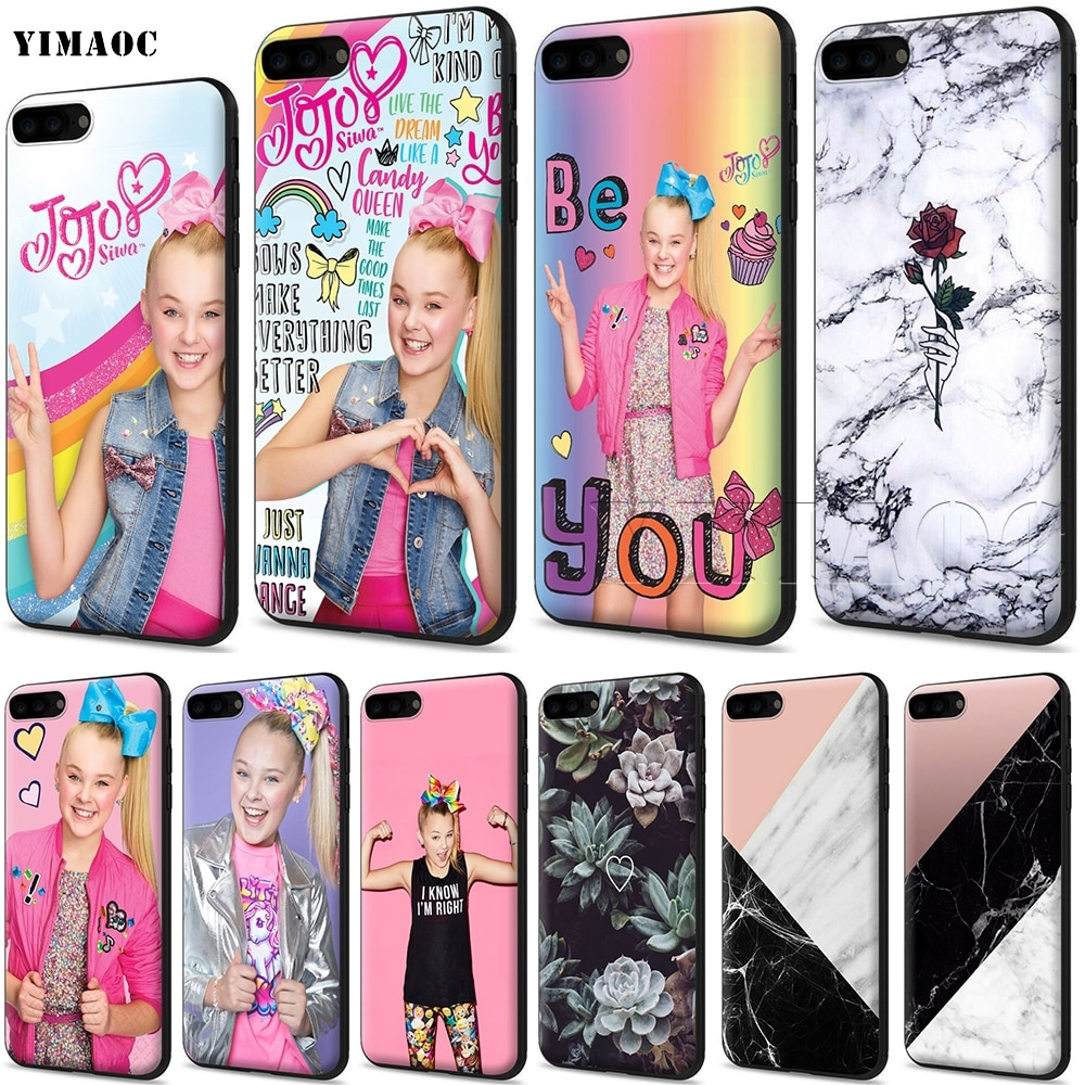 YIMAOC Jojo Siwa funda de silicona suave para iPhone 11 Pro XS Max XR 8X8 7 6 6S Plus 5 5S se