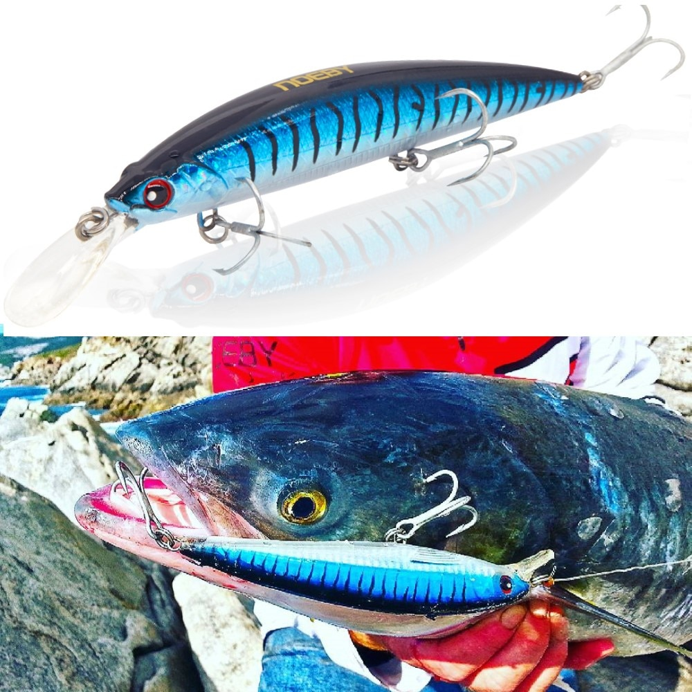 NOEBY sinking minnow fishing lure 110mm 36g bait abs hard plastic jerkbaits bass lerrues lures  Artificial Baits NBL9448