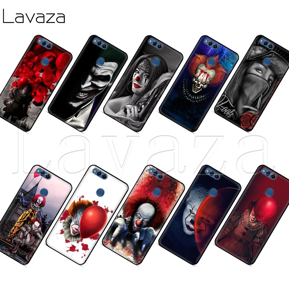 Lavaza Clown Horreur Pennywise Effrayant étui pour huawei P8 P9 P10 P20 P30 Y6 Y7 Y9 Lite Pro P Smart Nova 2i 3i Mini 2017 2018