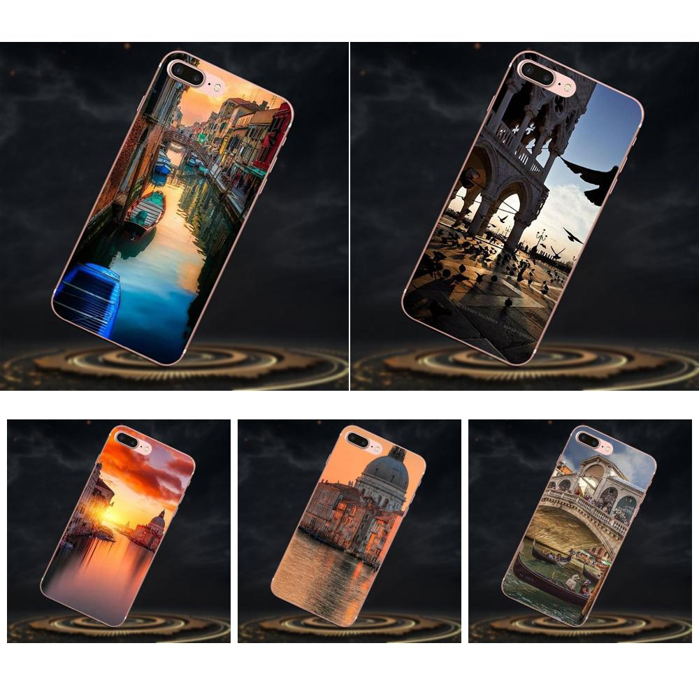 Novedades divertidas Fundas de la cubierta de la caja del teléfono para Samsung Galaxy J1 J2 J3 J330 J4 J5 J6 J7 J730 J8 2015 de 2016 a 2017 2018 mini Pro Venecia Italia
