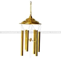 china fengshui copper windchimes 6 bells pentagon pavilion money luck and a thriving busines wind chimes for a gift home decor
