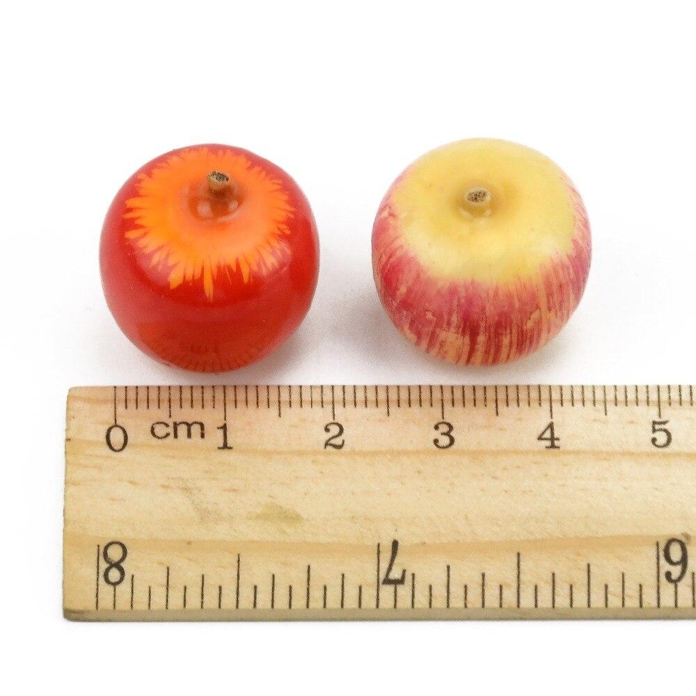 10 Uds Mini manzana decoración fiesta de Navidad boda hogar muebles juguetes cognitivos espuma de imitación baya