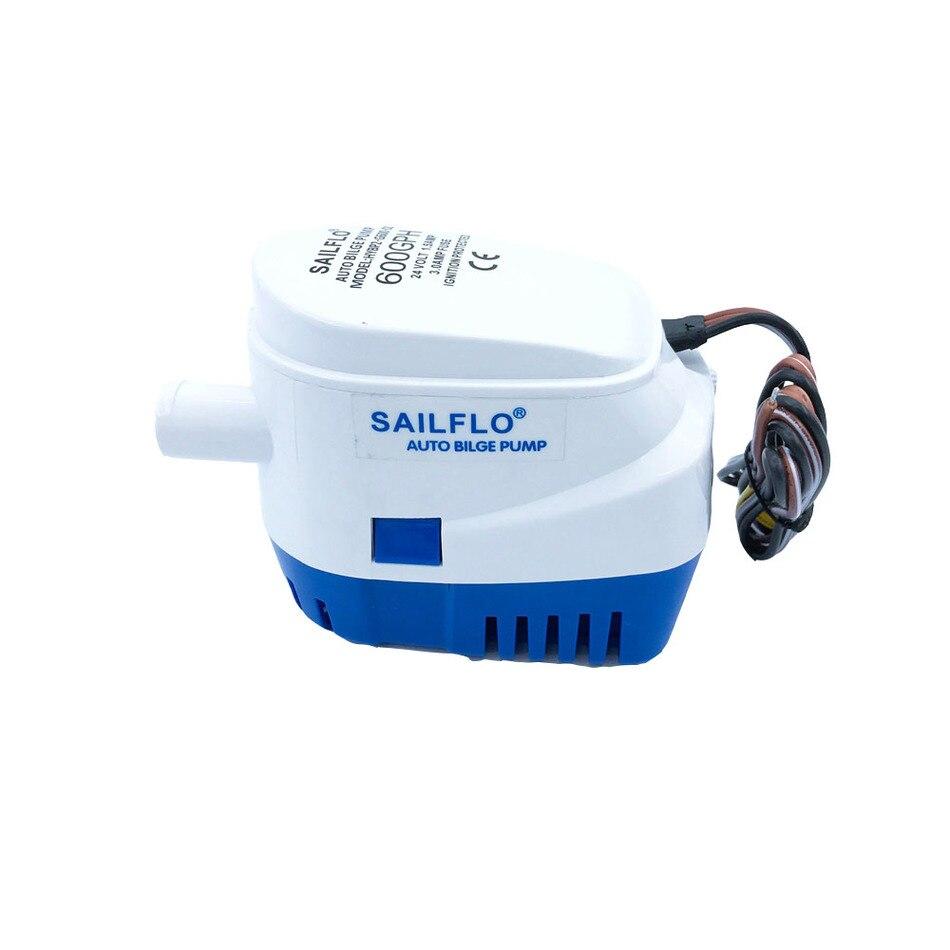 التلقائي المياه مضخة 600GPH 12V 24V غاطسة بيلج مضخة مع Folat التبديل السيارات محرك كهربائي قارب الحوض البحرية المعدات