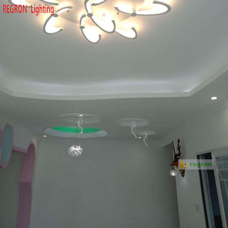 Regron Party Ceiling Lamp Small Crystal Led Ceiling Lights Modern Creative Ceiling For Porch Aisle Corridor Living Room Entrance