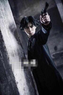 ¡[Stock] Anime! Fate Zero Emiya Kiritsugu uniforme de tela disfraz de hombre Cosplay Trench traje negro envío gratis
