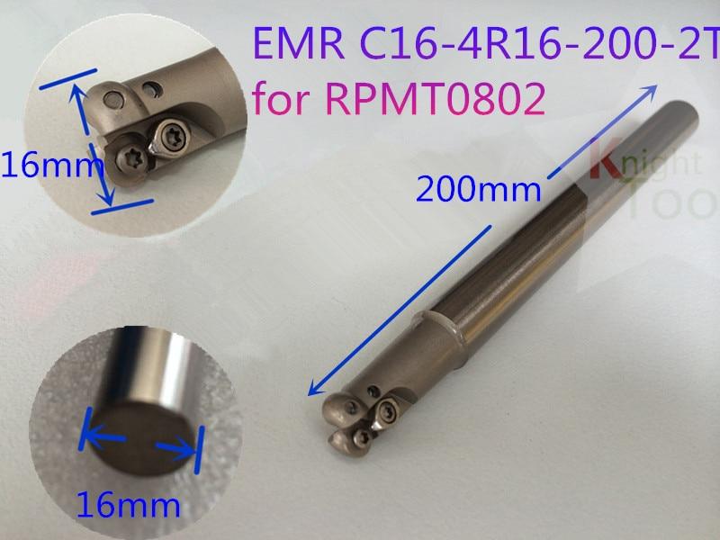 EMR C16-4R16-200-2T barras de herramientas de Control numérico RPMT0802 insertos